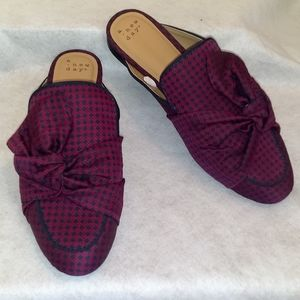 Women's Natalee Bow Backless Mules - A New Day